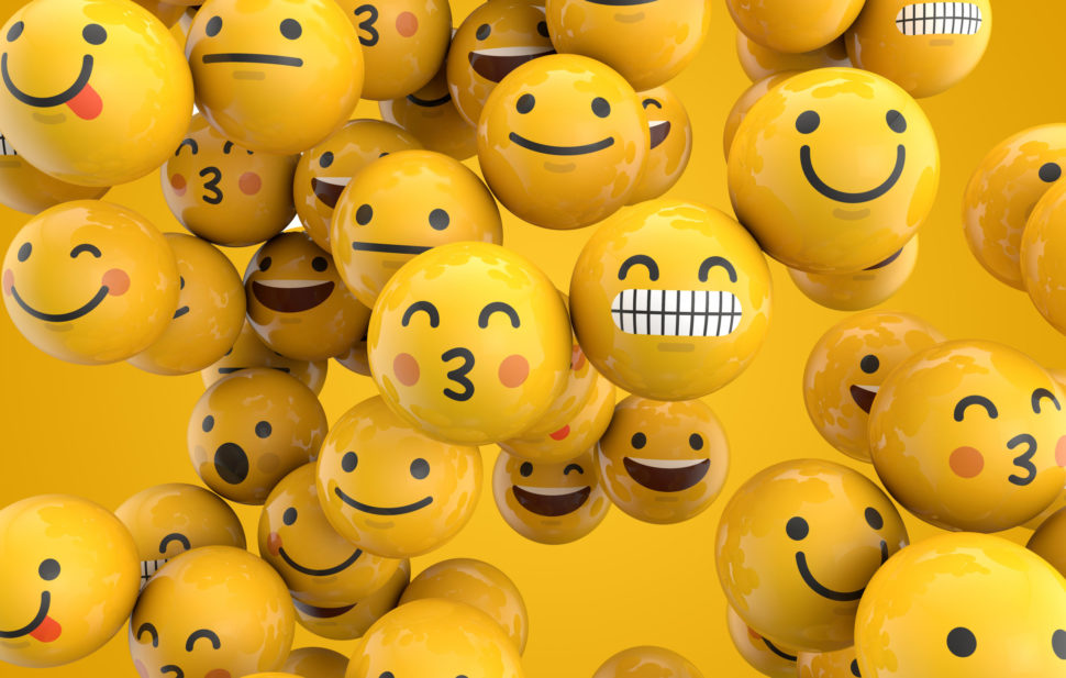 Emojis are one modern way of visually expressing tone words | <a href=https://www.shutterstock.com/image-illustration/emoji-emoticon-character-background-collection-3d-689892187 target=_blank rel=nofollow noopener noreferrer>Ink Drop</a> - <a href=https://www.shutterstock.com/g/mattdoodles target=_blank rel=nofollow noopener noreferrer></a> <a href=https://www.shutterstock.com/license target=_blank rel=nofollow noopener noreferrer>Shutterstock License</a>