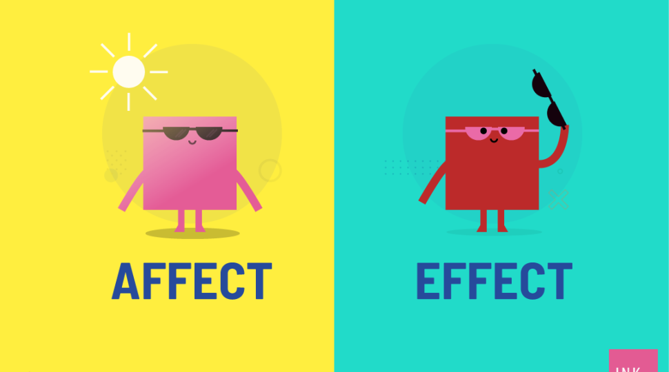 Affect and effect are often used interchangeably by people despite the huge difference in their meaning and function.