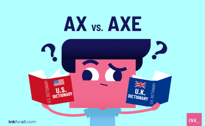 Confused on whether to use ax or axe in your writing? Don't be because both spellings are correct and refer to the same thing - a tool used for cutting wood.