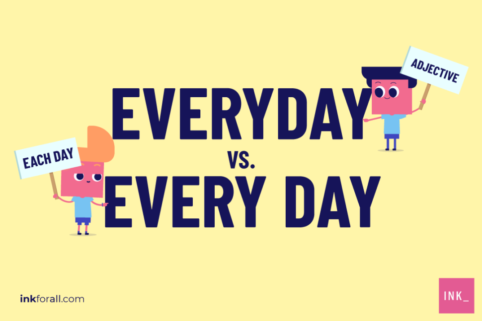 The word everyday is an adjective. It describes something that is commonplace. On the other hand, the phrase every day is synonymous with each day. It refers to an event that happens daily.