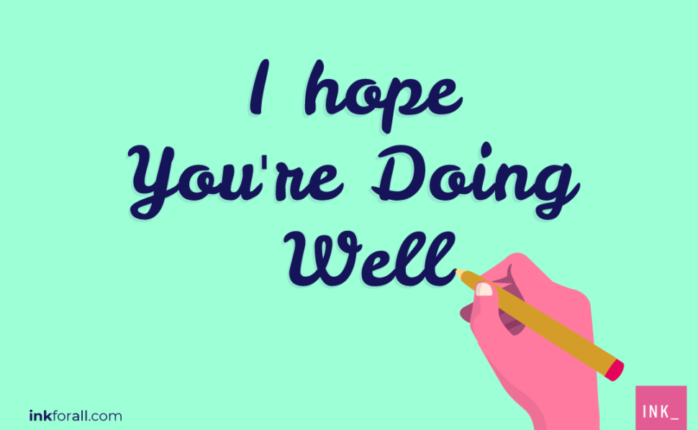 Using I hope you're doing well or plain hope you are well in your emails may not be grammatically incorrect. However, this overly used phrase could make you sound unprofessional and lazy in your emails.