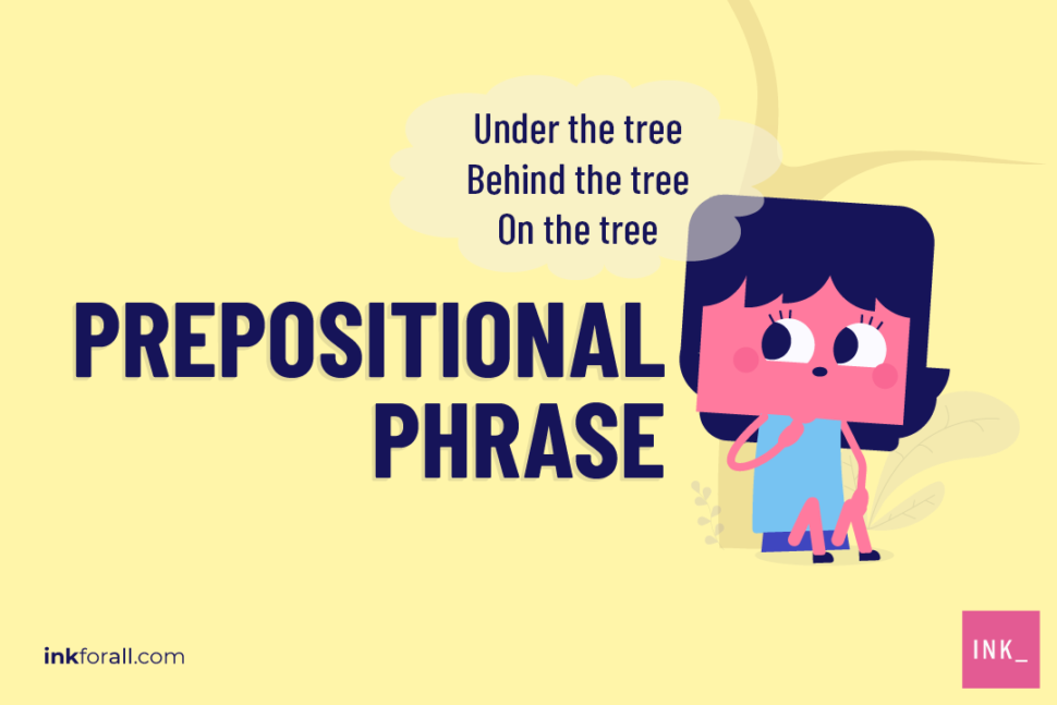 Prepositional phrases outline the relationships between a sentence's nouns, pronouns, and other supporting words.